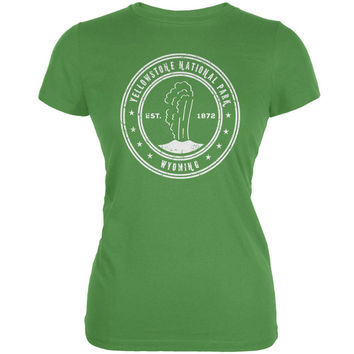 Yellowstone National Park Leaf Juniors Soft T-Shirt