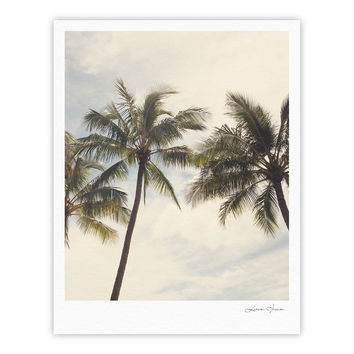 "Catherine McDonald ""Boho Palms"" Coastal Trees Fine Art Gallery Print"