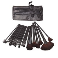 24 Pcs Elegant Professional Beauty Cosmetic Makeup Make up Brush Brushes Set Kit with Black Bag Case Pouch