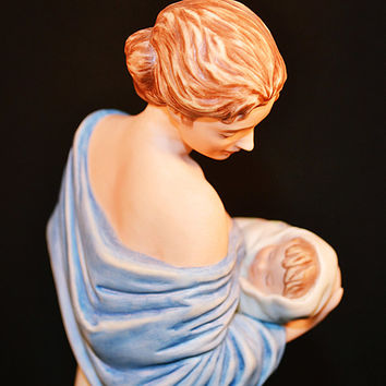 FREE SHIPPING Roman Inc., Limited Edition Irene Spencer Signed Figurine, Miracle From Heartbeats Series, 1980's Statue