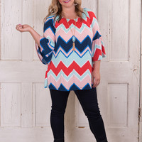 Curvy| Saturday Fun Day Tunic - Blue
