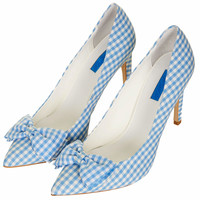 GINGHAM BOW POINTED COURTS