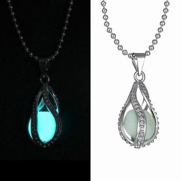 Glow In Dark Pendant Luminous Necklace