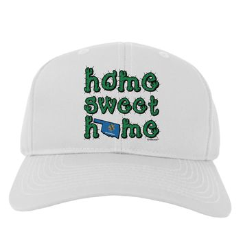 Home Sweet Home - Oklahoma - Cactus and State Flag Adult Baseball Cap Hat by TooLoud