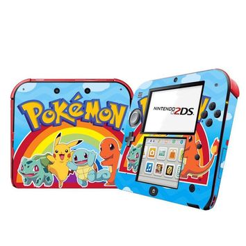 Vinyl Skin Sticker Cover Protector for Nintendo 2DS skins Console StickersKawaii Pokemon go  AT_89_9
