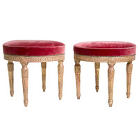 Pair of Louis XVI Style Benches / Stools
