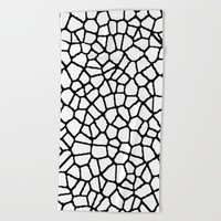 staklo (white with black) Beach Towel by Trebam
