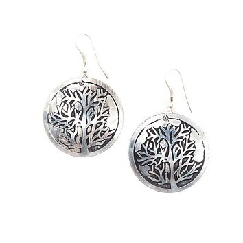 Tree of Life Silver Plated Earrings - Fair Trade