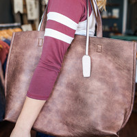 Flip the Switch Tote - Brown