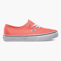 Vans Authentic Womens Shoes Fusion Coral/True White  In Sizes