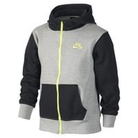 Nike SB Color-Block Full-Zip Boys' Hoodie - Black