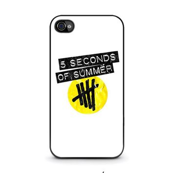 5 seconds of summer 2 5sos iphone 4 4s case cover  number 1