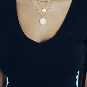 Here We Go Necklace: Gold