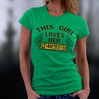Packers, Green Bay Packers, Green Bay This Girl Lovers Her Packers Tshirt