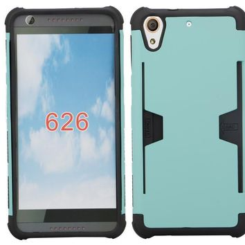 HTC Desire 626 Case, Slim Hybrid [Card Slot Insert] Dual Layer [Shock Resistant] Case Cover for Desire 626 - Teal