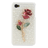 Rose Case with Crystals for iPhone 4 4S
