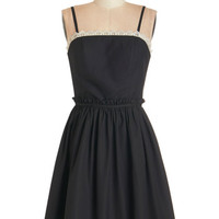 ModCloth Long Strapless A-line Song and Cadence Dress
