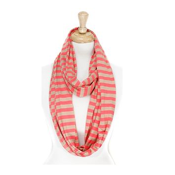 Cape May Stripe Nursing Infinity Scarf