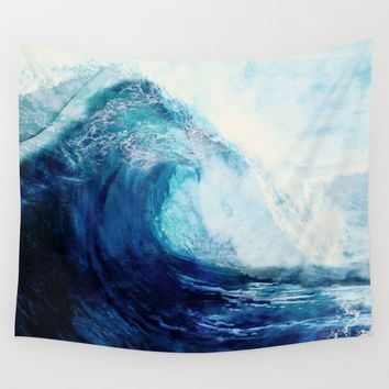 Waves II Wall Tapestry by nadja1