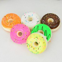 1PCS 5CM Artificial Mini Squishy Donut Kawaii Chocolate Noodles Sweet Roll Pretend Toys Kitchen Toys
