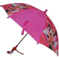 "Licensed Disney Minnie Mouse Welcome To Here Boutique Pink 21"" Girls Umbrella"