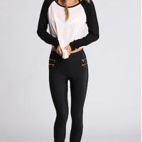 Black And White Long-Sleeve Shirt