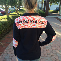 Simply Southern Logo Pullover - Navy