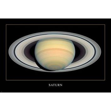 Space Image Poster SATURN 24X36 DETAILED flashy ringed giant HOT NEW RARE