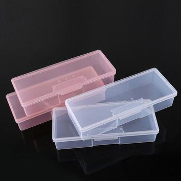ONETOW 2017 Transparent Nail Tools Storage Box Nail Rhinestone Decorations Buffer Files Grinding Organizer Case Box Nail Art Equipment