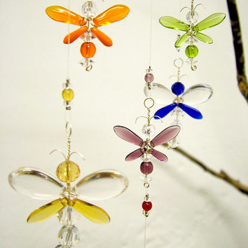 Nursery Idea Baby Shower Gift Swarovski Crystal Baby Mobile Dragonfly Suncatcher Firefly Mobile Baby Room Decor Baby Boy Mobile Baby Girl