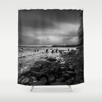 I will strike upon thee with great vengeance Shower Curtain by HappyMelvin