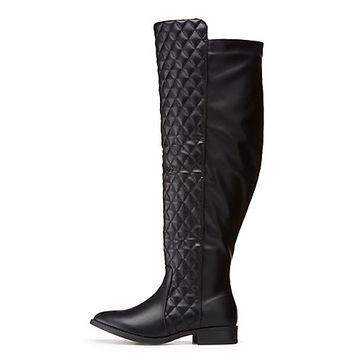 Quilted Riding Boots | Charlotte Russe