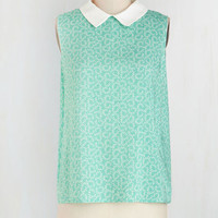 Vintage Inspired Mid-length Sleeveless You've Gotta Have Fronds Top by ModCloth