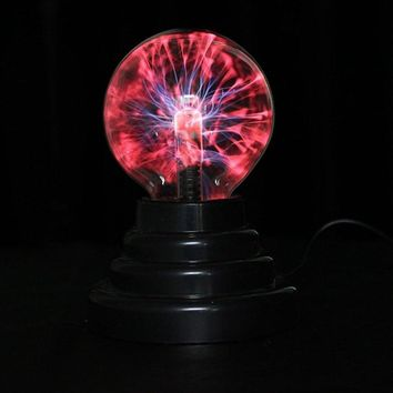 3 inch Magic Plasma Ball Retro Light Kids Room Decor Gift Box Lightning Light Lava Lamp Christmas Party Decor Cristal Lamp