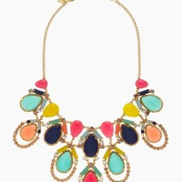 amalfi mosaic statement necklace