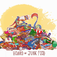 HOARD OF JUNK FOOD PRINT