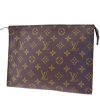 Auth LOUIS VUITTON Pochette Toilette 26 Clutch Bag Pouch Monogram M47542 01EC641