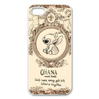 Cartoon Lilo & Stitch Interesting Design White Back Case Cover For iphone 4 4s 5 5s 5c 6 6plus