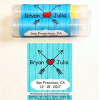10 Country Wedding Lip Balm Favors  - Wedding favors for: Rustic Weddings, Wedding Anniversaries, Bridal Showers, custom wedding label, A96