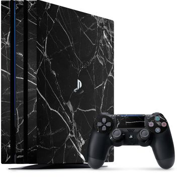 Hyper Black Marble Playstation 4 Pro Skin