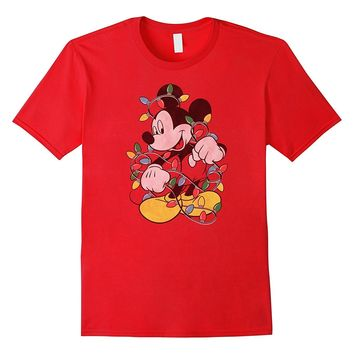Disney Mickey Mouse Christmas Lights T Shirt