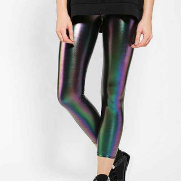 Sparkle & Fade Rainbow Oil Slick Legging- Black Multi M