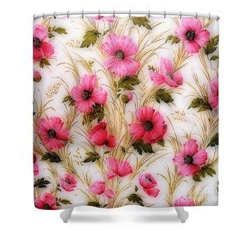 Vintage 1950's Floral Shower Curtain