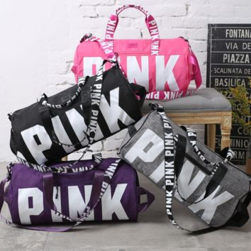 "Victoria's secret ""Pink"" Women Sports and fitness yoga with short travel bag"