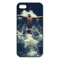 EVA Michael Phelps iPhone 5 Case,Snap-On Protector Hard Cover for iPhone 5