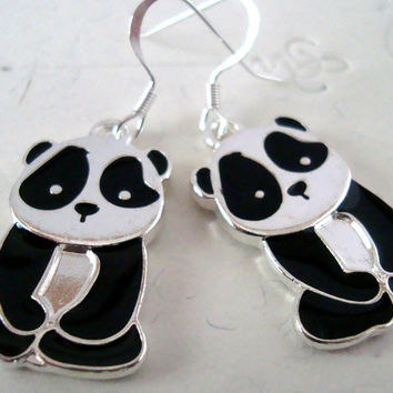 Panda Earrings by AshleysCharm on Etsy