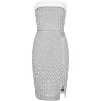 Roland Mouret Ambrose Metallic Strapless Dress Silver | Harrods