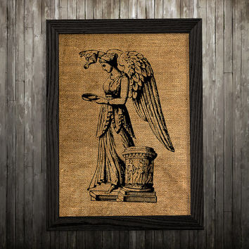 Victorian print Angel poster Antique art Statue print BLP830