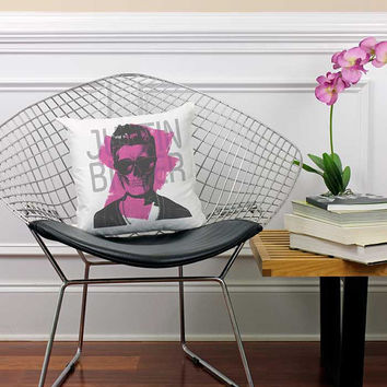 Decorative Throw Pillow Justin Bieber Skull, Blue Pink Sofa Cushion Pillow, Home Decor, Zombie, Music Icon, Bad Boy, Canada
