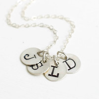 Sterling Silver Four Initial Necklace for Moms